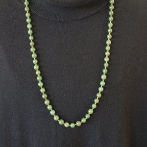Beaded Jade Knotted Necklace